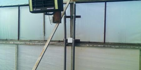 отопление от котла и воздушное отопление волкано, Volkano, твердотопливный котел в теплицу